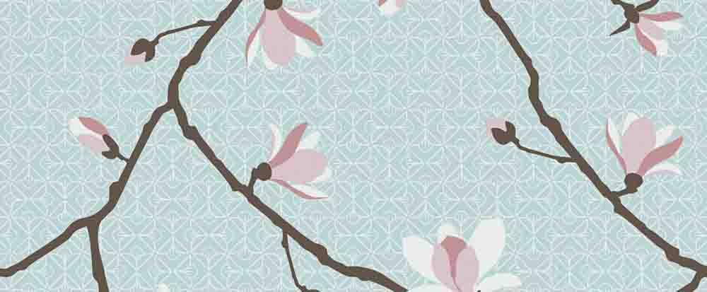 magnolia tapet rusta